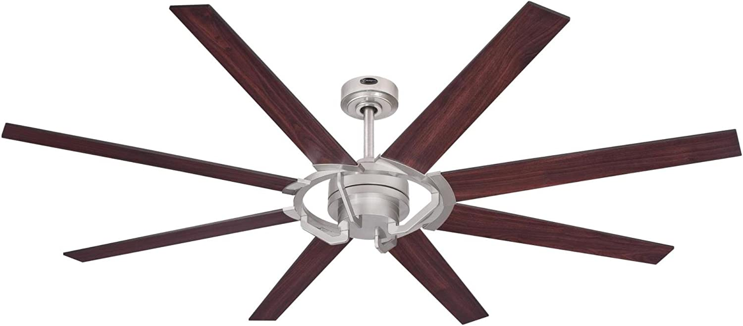 Westinghouse Lighting 7217300 Damen 68-Inch Nickel Luster Indoor DC Motor Ceiling, Remote Control Included USA FAN