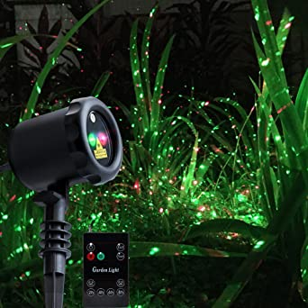 kityall outdoor laser christmas lights holiday projector spotlight red green