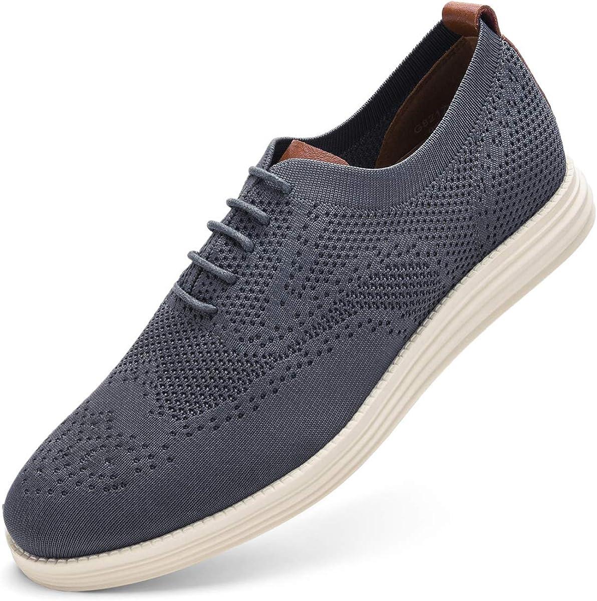 Men's Wingtip Dress Shoes Knit Oxford