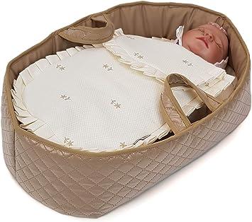 Borda y más Capazo de Viaje para muñecas y bebés Reborn - Moisés - para muñecas de hasta