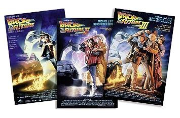 """Set de 3 Posters """"Back to the Future/ Regreso al Futuro I-"""
