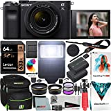Sony a7C Mirrorless Full Frame Camera Alpha 7C Body with 28-60mm F4-5.6 Lens Kit Black ILCE7CL/B Bundle with Deco Gear Case +