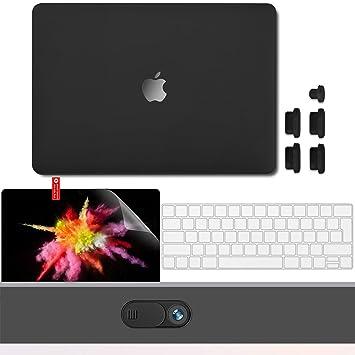 GMYLE Funda Dura 2018 2017 2016 MacBook Pro 13 con/sin Touch Bar A1989 A1706 A1708 USB-C, Cutout Logo Carcasa Rígida Protectora, Protector Teclado, ...