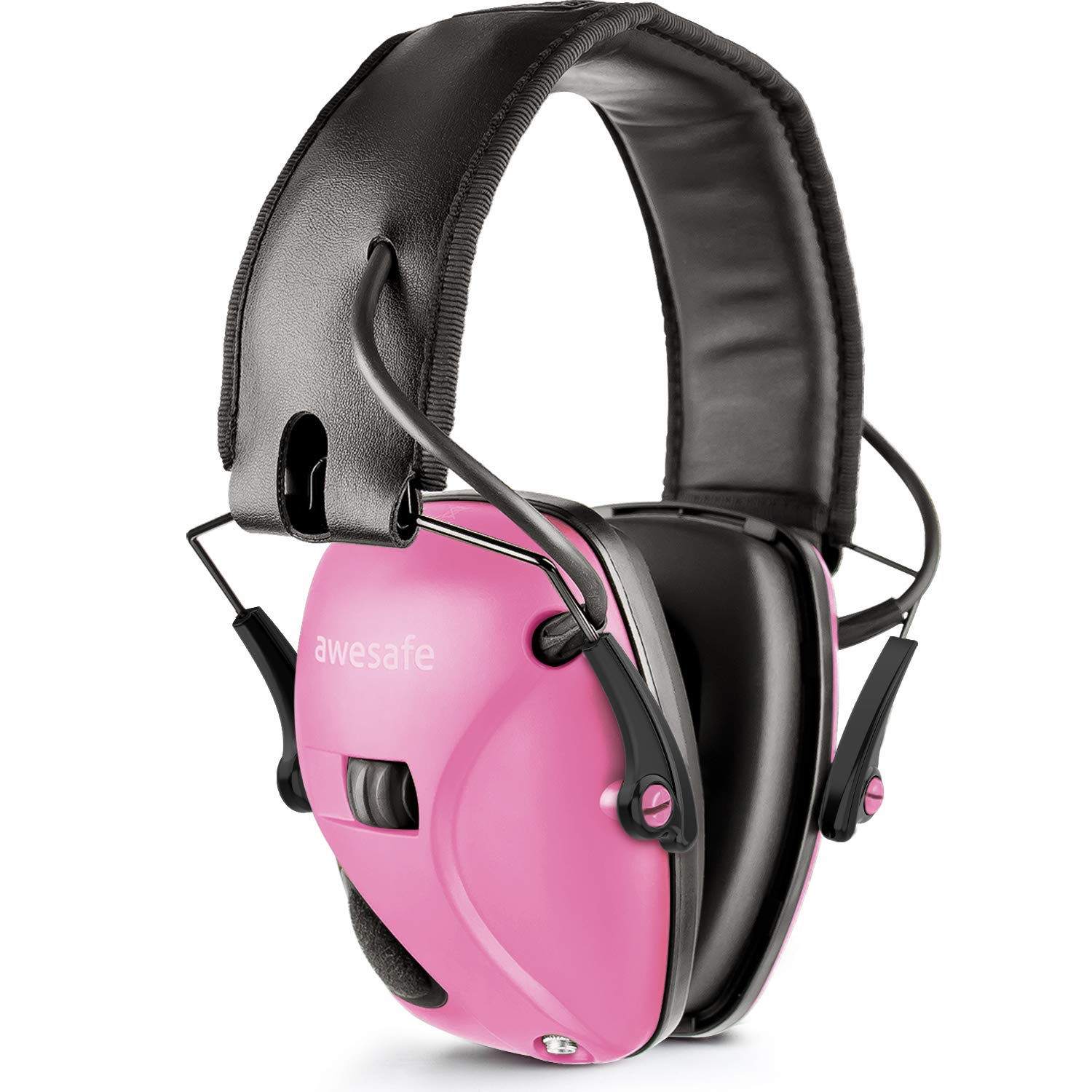Awesafe Electronic Shooting Earmuff, GF01 Noise Reduction Sound Amplification Electronic Safety Ear Muffs, Ear Protection, NRR 22 dB, Ideal for Shooting and Hunting, Pink … …