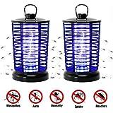 Lixada 蚊取り器 電撃蚊取り器 虫除けライト― LED 蚊キラー 吸引式蚊取り器 近紫外線 静音 電気トラップライトに付き