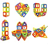 Soyee Magnetic Blocks Educational Toys for 3, 4, 5, 6 Year Old Boys and Girls Stacking Toddler Toys 64pcs Magnetic Tiles Big Building Block Set Great STEM Toy Gift Idea for Kids