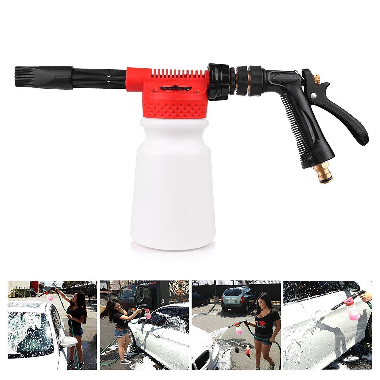 Vingtank Car Wash Foam Gun, Multifunctional Portable 900ML Bottle High Pressure Adjustable Snow Foamer Lance Wash Gun Cleaning Nozzle for Garden Hose Van Motorcycle Vehicle