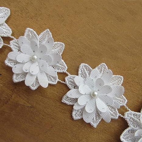 White Lace Vintage StyleEdge Trim Wedding Sewing Bridal Ribbon Bows Crafts Deco