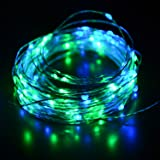 HAHOME Starry 100 LEDs 33-feet USB  String Lights with Power Adapter, Blue/Green