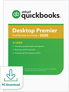 QuickBooks Desktop Premier 2020 Accounting Software for Business for Small Business - 5 User [PC Download]