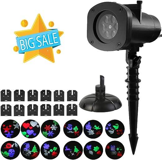 WEINAS® Lámpara de Proyector LED con 12 Diapositivas de Temáticas ...