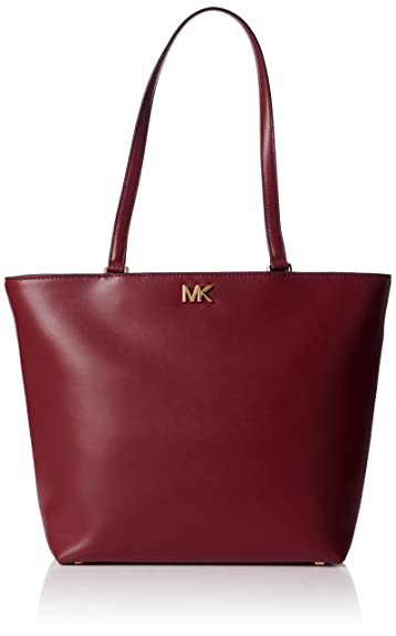 033678c44bf9 Amazon.com: Michael Kors Womens Mott Medium Tote Tote Red (Mulberry): Shoes