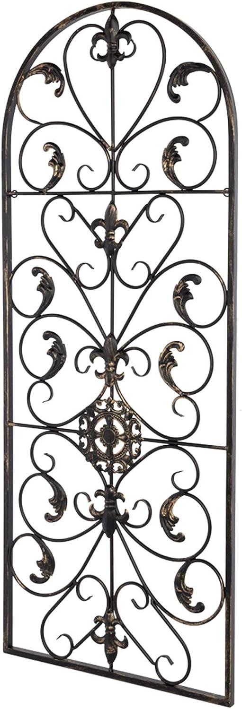 MITPATY Semi-Circular Retro Decorative Spanish Arch Wall Art Victorian Style Iron Ornament - 41.5