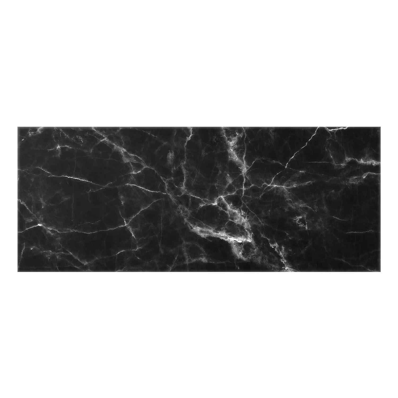 Bilderwelten Glass Splashback - Nero Carrara - Panoramic, Backsplash Cooker Splashback Protector Panel Decorative Splashback Panel, Dimension HxW: 40cm x 100cm PPS. Imaging GmbH