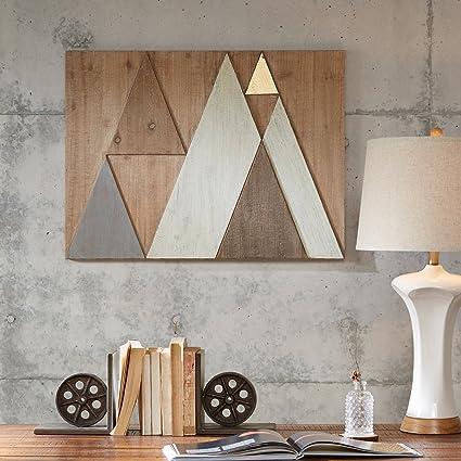 Amazon.com: Ink+Ivy Wood Wall Decor Natural/See below: Wall Art