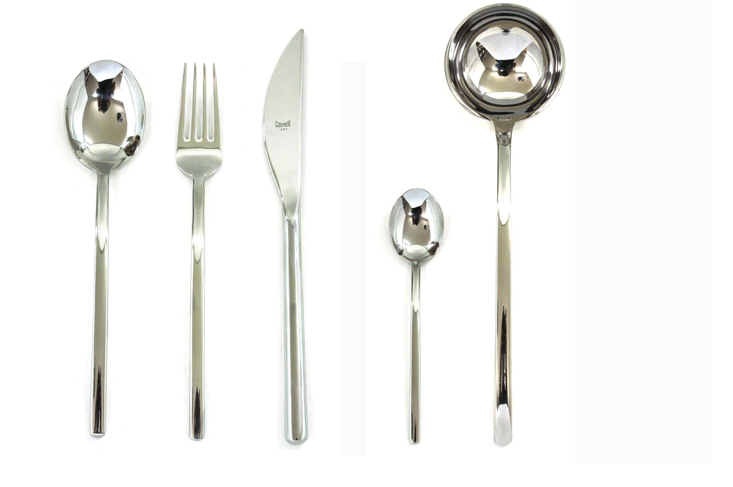 Mepra 100222049 49 Piece Sveva Cutlery Set, Stainless Steel