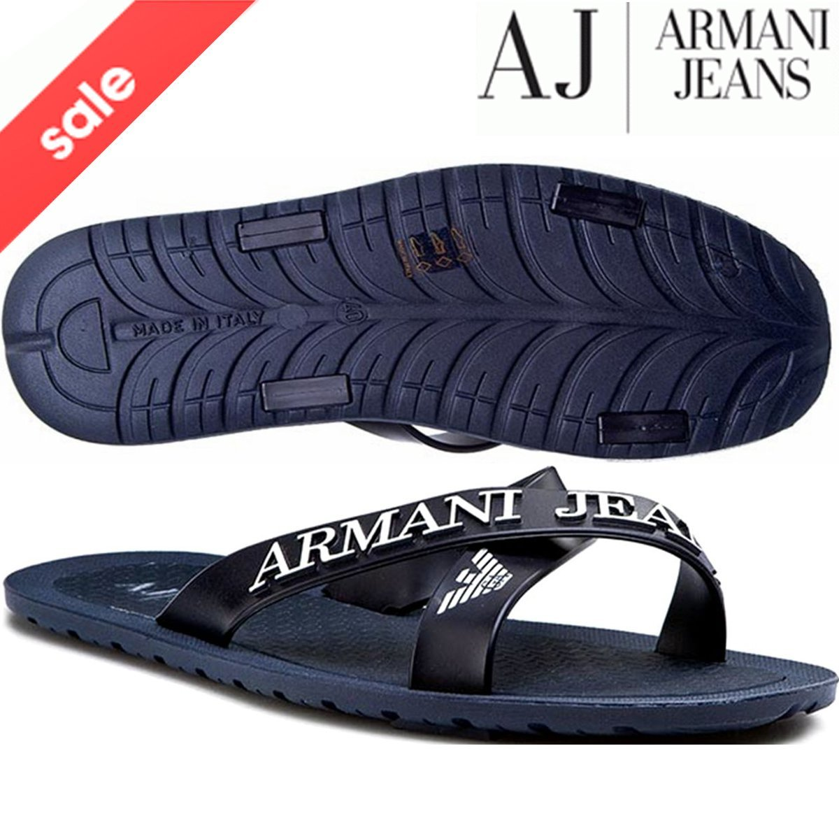 d2766f4bd418 BNWT EA7 Emporio Armani Flip Flops Open Toes Eagle Logo Mules Slippers  Sandals Beach Shoes (UK8 EU41)  Amazon.co.uk  Shoes   Bags