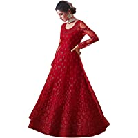 Home Fashion Women Georgette Long Anarkali Salwar Suit/Gown With Dupatta