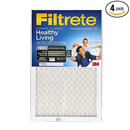 Nordic Pure 20x25x1 MPR 1500 Healthy Living Ultra Allergen Reduction Replacement AC Furnace Air Filters 2 Pack