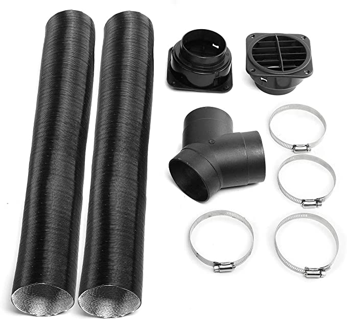 Kecheer For Webasto Diesel Heater 75mm Heater Pipe Ducting Y Branch Warm Air Outlet Vent Kit Car Accessories
