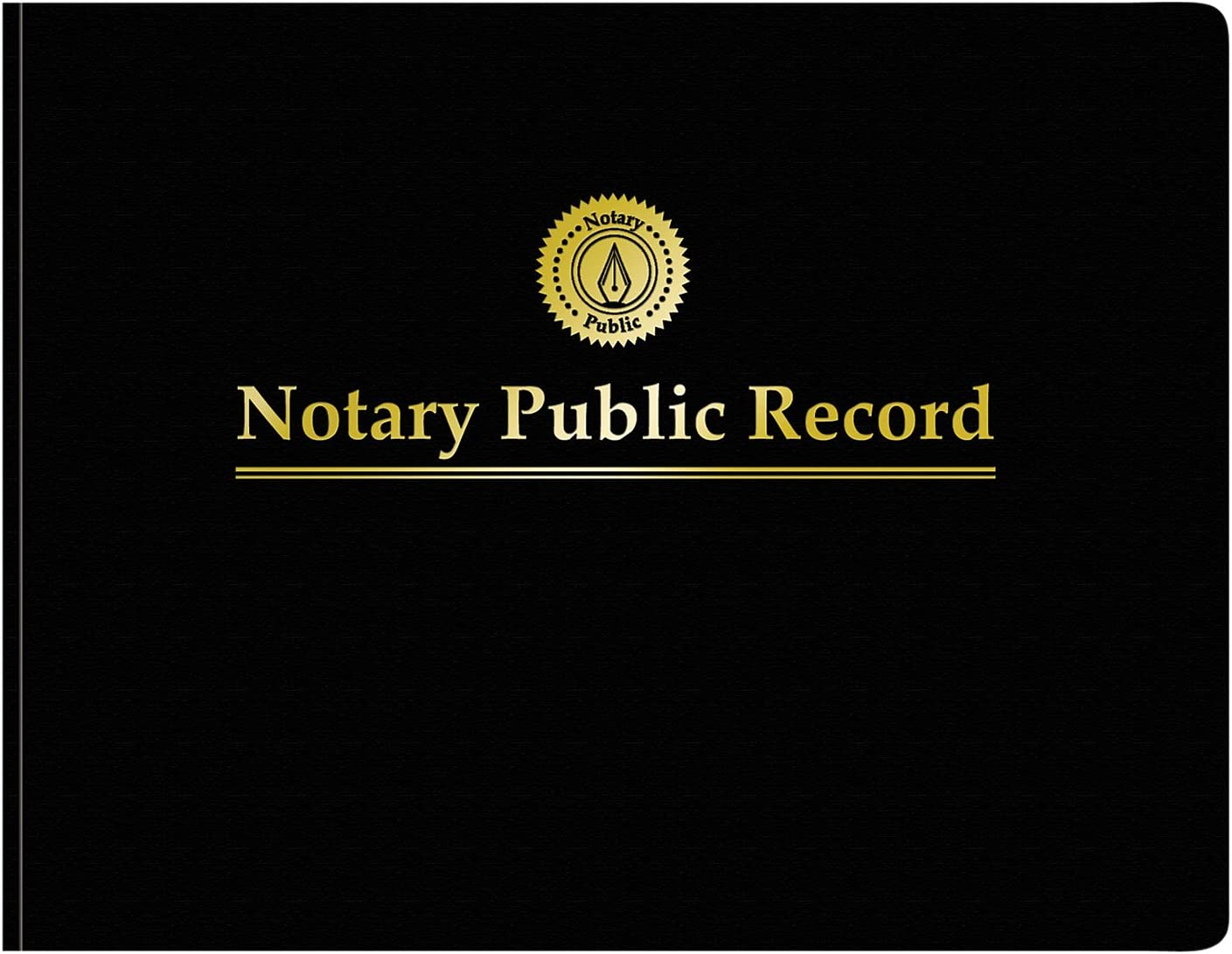 Adams Notary Public Record Journal, 11 x 8.5 Inches, 6 Entries Per Page, 63 Pages Per Book, Black (AFR90), White : Office Products