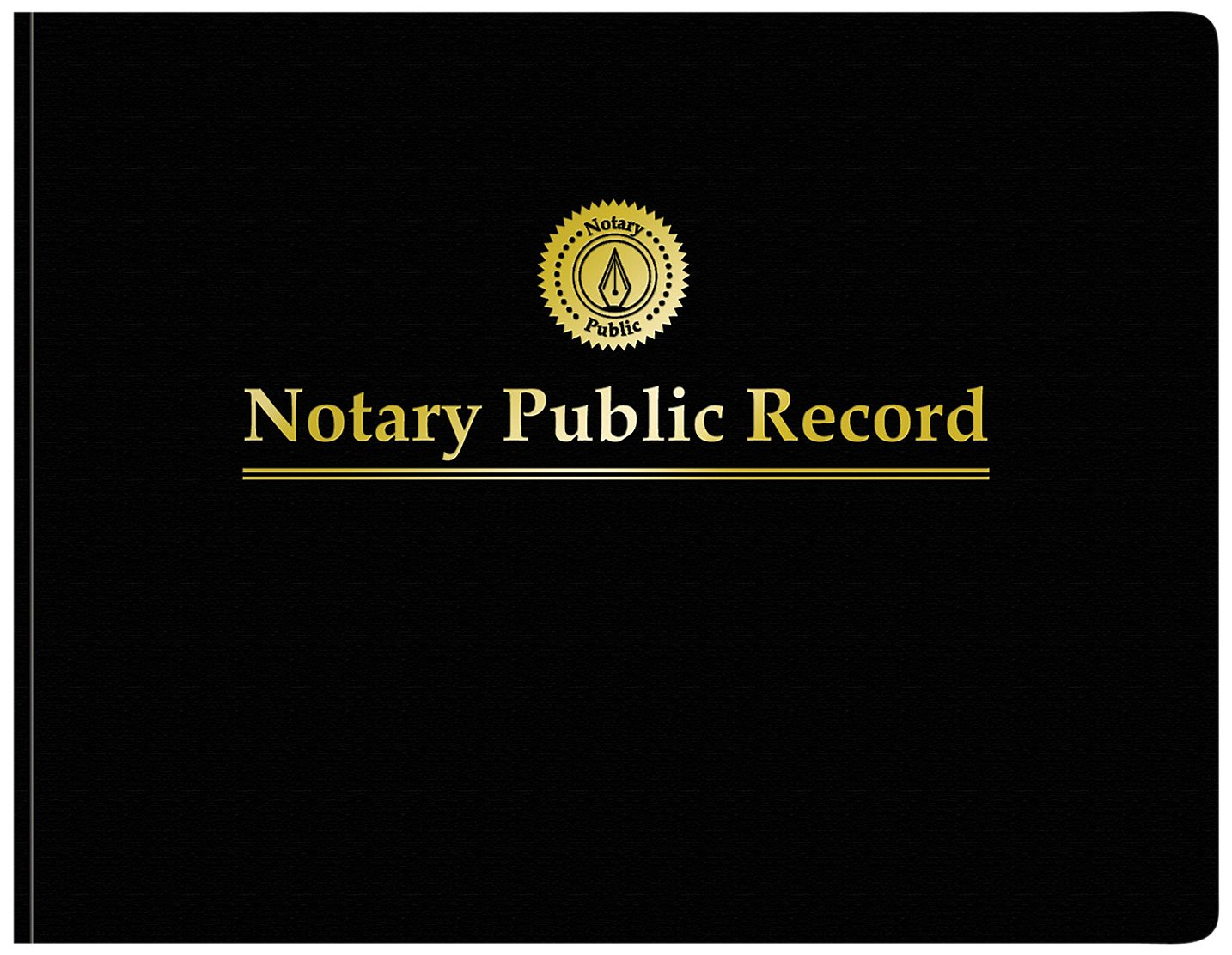 Adams Notary Public Record Journal, 11 x 8.5 Inches, 6 Entries Per Page, 63 Pages Per Book, Black (AFR90)
