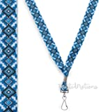 Blue Aztec Tribal - Soft Printed ID Neck Lanyard