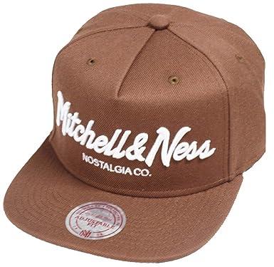 741d3e67 Mitchell & Ness Ownbrand Brown EU336 Pinscript Snapback Cap Kappe ...