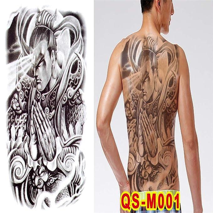 2pcs-Full Pegatinas de Tatuaje de Espalda Guan Gong Zhao Yun ...