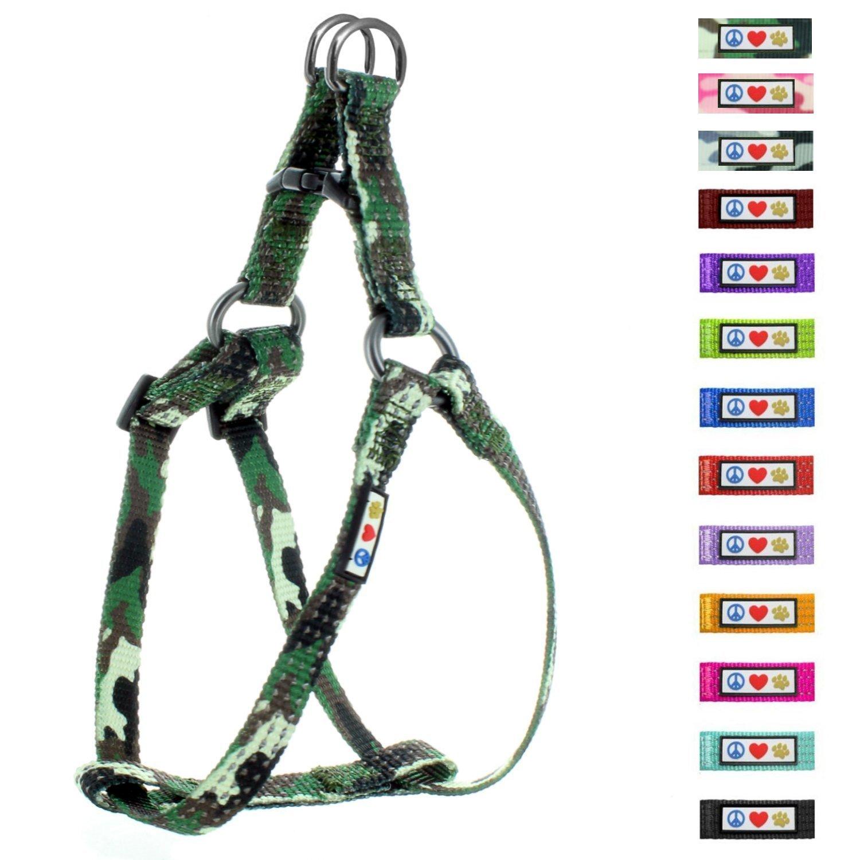 Pawtitas Harnais pour chien / chiot facile à enfiler, ajustable et Réfléchissant Grand Camouflage Vert ajustable et Réfléchissant Grand Camouflage Vert