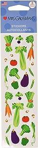 Mrs Grossman Stickers-Vegetables