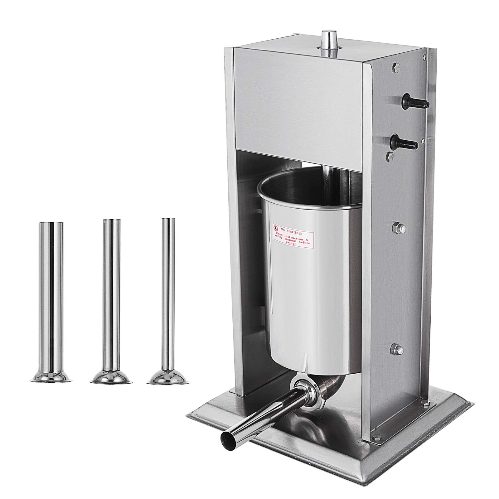 Happybuy Sausage 10L 22LB Vertical Stainless Steel Two Speed Commercial Grade Restaurant Meat Filler Manual, Silver by Happybuy