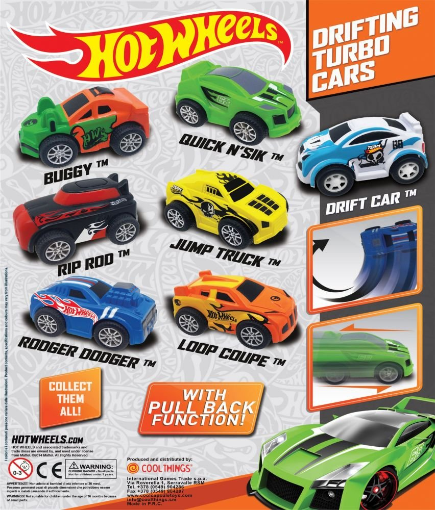 Drifting Turbo Cars In A Capsule Pack Of Pullback And Zoom