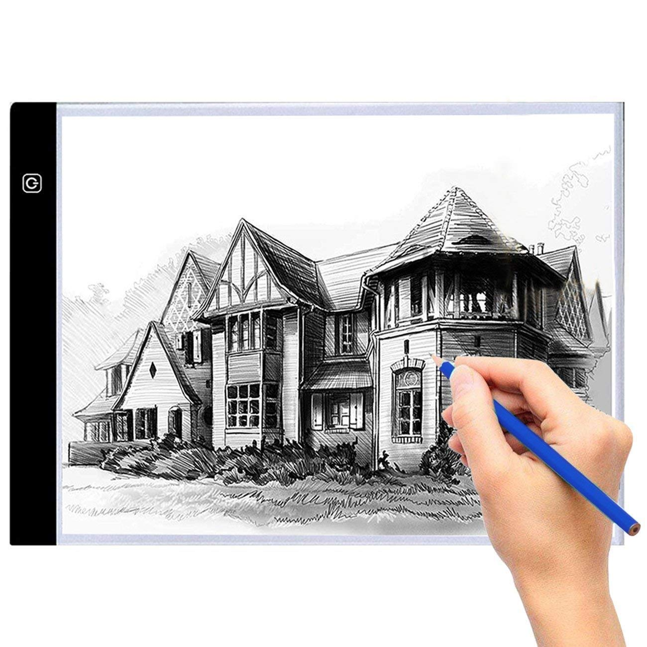 A4 Tracing Led Light Pad Box, Ultra-thin Portable LED Drawing Board Lighted Tracing Box for AdultsΧld