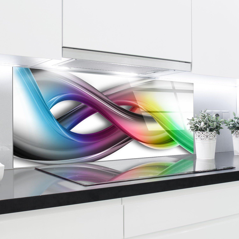 Cuisine Dosseret en verre Imprim/é Panneaux r/ésistant /à la chaleur en verre tremp/é 125/x 50/cm