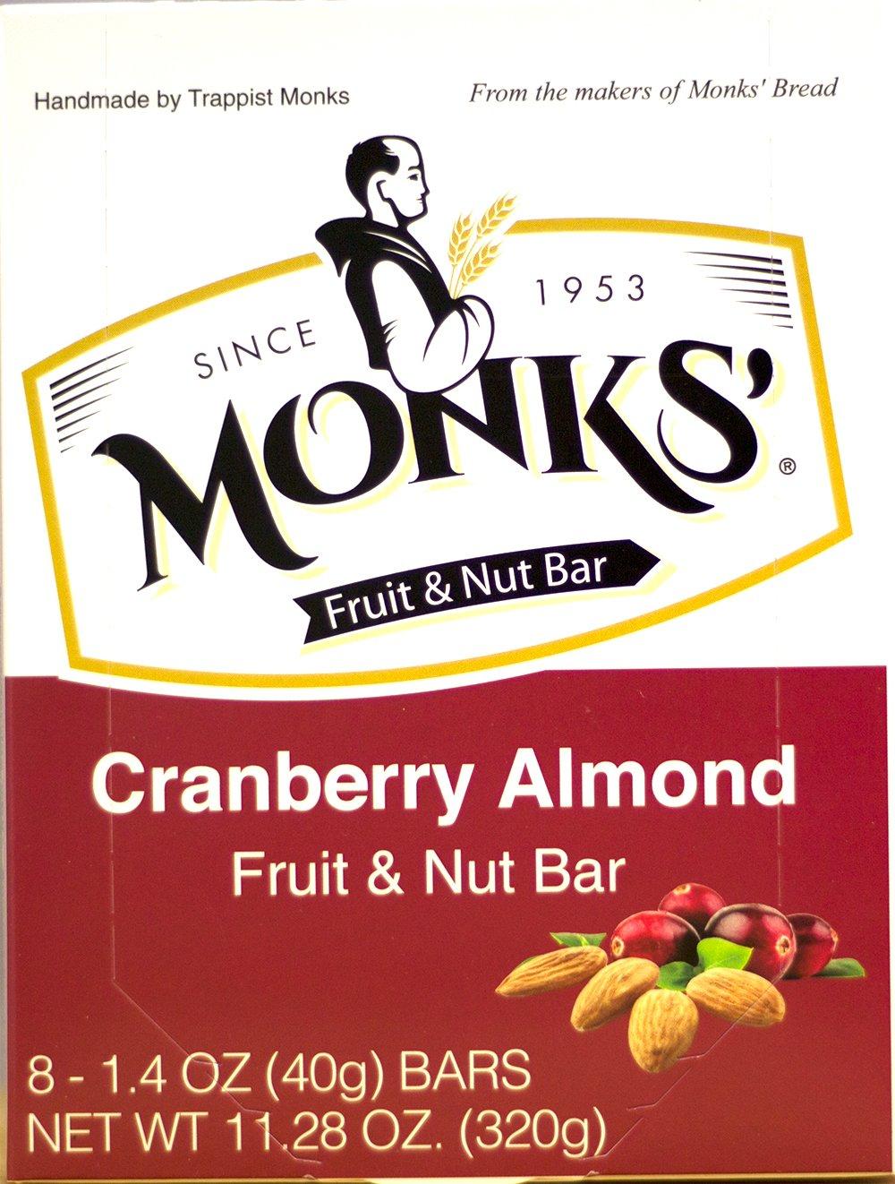 Monks' Cranberry Almond Fruit & Nut Bars