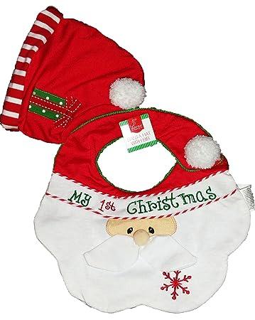 Amazon.com   MY 1ST CHRISTMAS Baby Santa bib and Santa hat   Baby f51f579bfa3