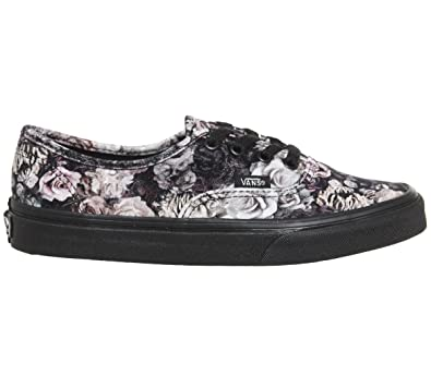 9271ec494a Vans Authentic Velvet Womens Trainers Black Floral - 4 UK