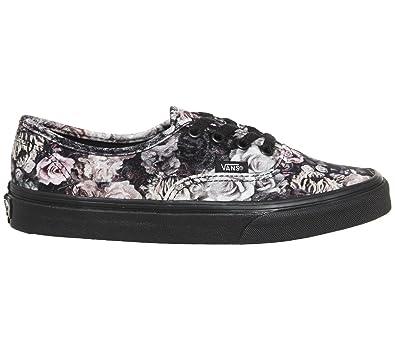 468aef58e1 Vans Authentic Velvet Womens Trainers Black Floral - 4 UK