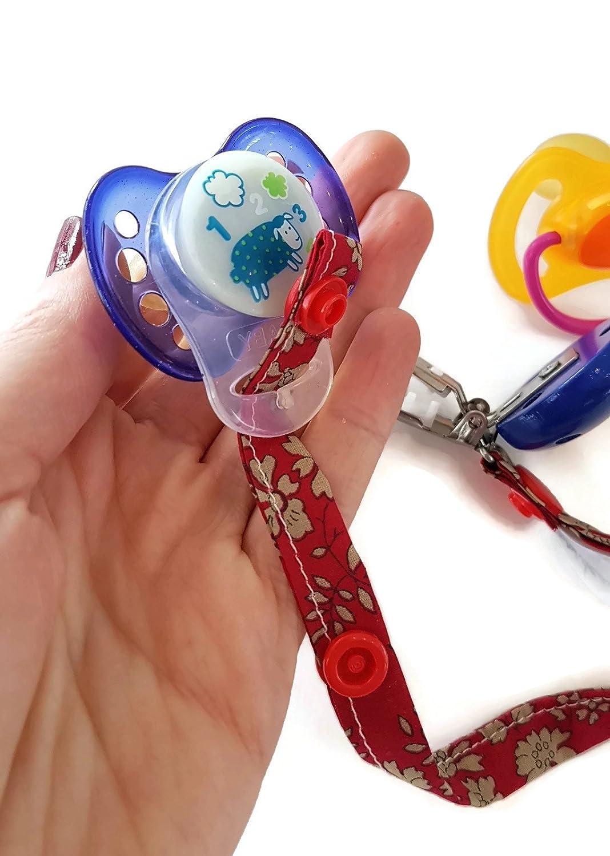 dea-concept - Cadena chupete bebé - liberty - clip oro - adaptador ...