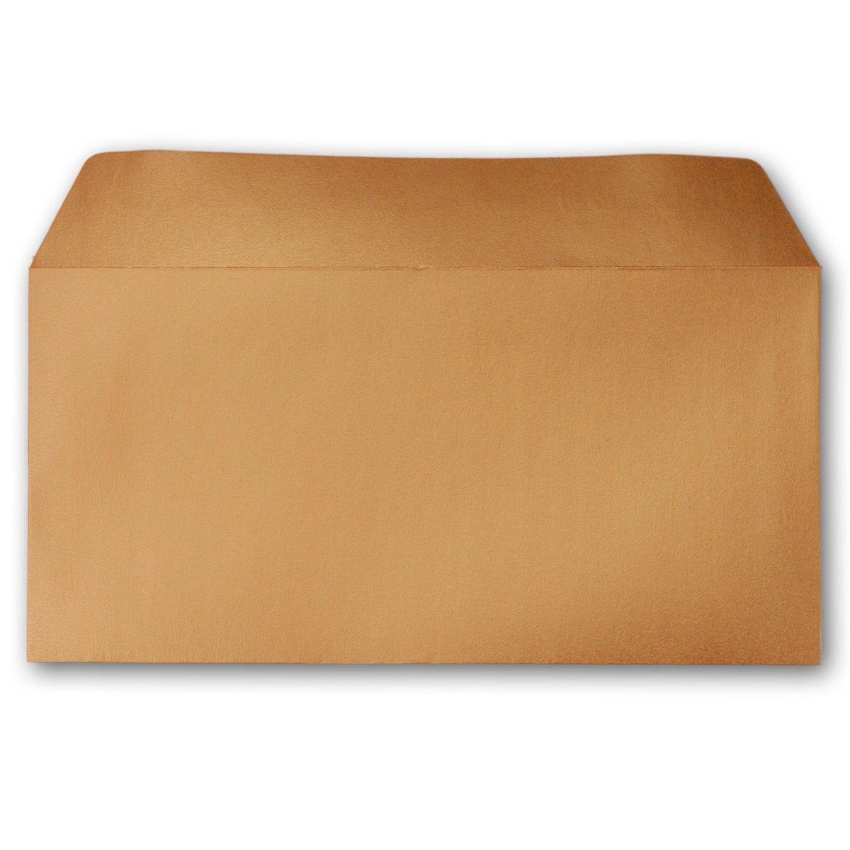 Haftklebung Hochzeit /& Weihnachten gl/änzende Kuverts f/ür gro/ße Einladungen und Karten 150 Silber-Metallic Brief-Umschl/äge DIN Lang 100 x 220 mm