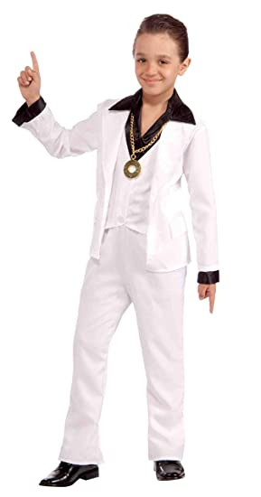 Brand New 70s Disco Fever Boys Child Costume Small