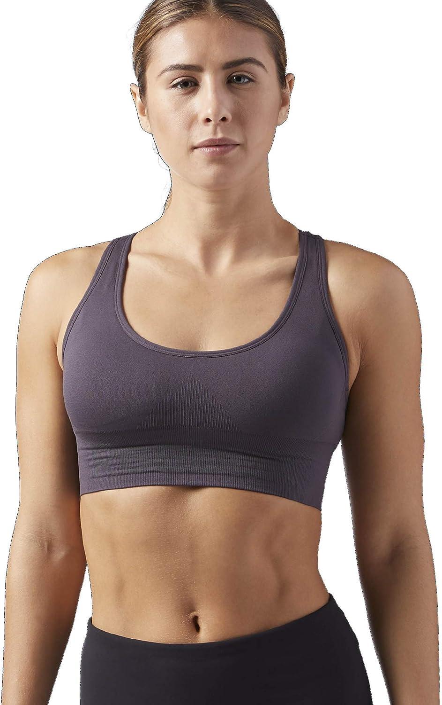 Reebok Womens Workout Ready Seamless Sports Bra