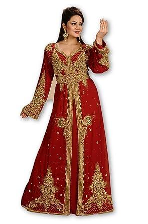 MEHREEN CREATION Dubai Kaftan Modern KHALEEJI TAKSHITA Dress for Women Gown  6144A (5XL) 5cc67e3c82a
