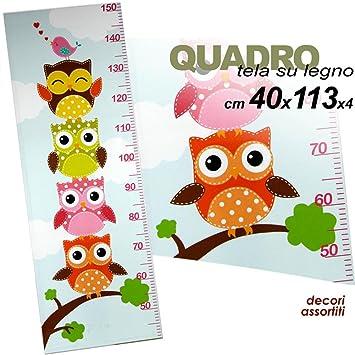... Sobre Madera Vertical a forma de metro con decoración dibujo Búhos Búhos 113 x 40 x 4 cm para dormitorio infantil modelos surtidos: Amazon.es: Bebé