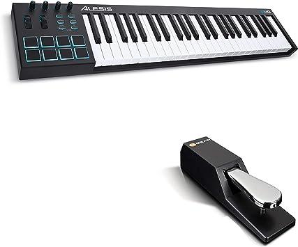 Alesis V49 + M-Audio SP-2 - Teclado controlador USB-MIDI ...