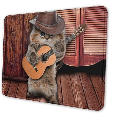 Juego Alfombrilla para ratón País Divertido Guitarrista Gato Tocar ...