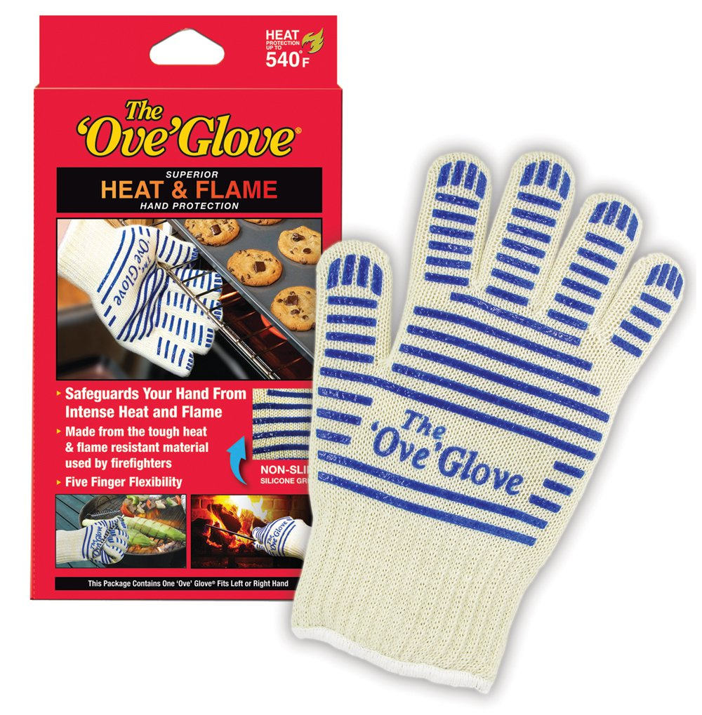 Ove' Glove, Heat Resistant, Hot Surface Handler Oven Mitt/Grilling Glove, Perfect for Kitchen/Grilling, 540 Degree Resistance, As Seen On TV Household Gift by Ove Glove