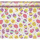 2 Large Easter Egg Printed Cellophane Basket Bags 61cm x 63cm