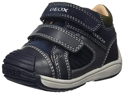 Geox B New Balu' A, Sneakers Basses Bébé Garçon, Marron (Coffee/Navy), 23 EU